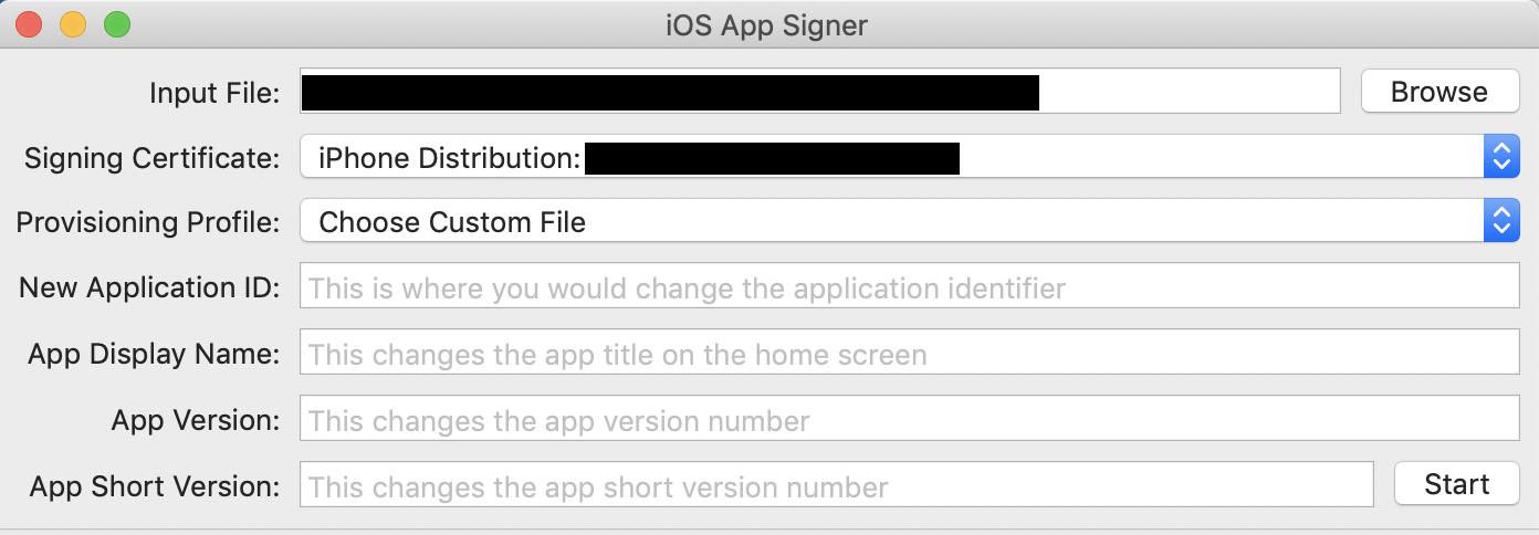Signing iOS ( ipa) App - Mac / Linux (CentOS) - WebberSky